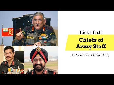 All Chiefs of Indian Army | Army Generals