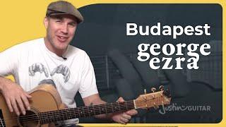 Budapest - George Ezra - Guitar Lesson Tutorial (BS-425)