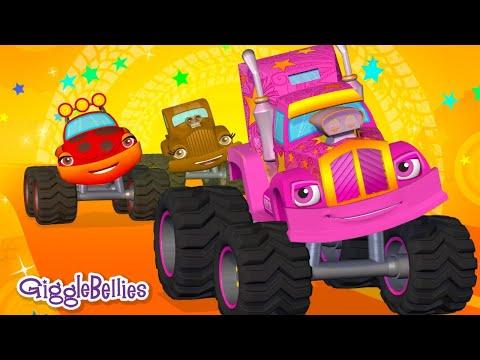 Wheels On The Bus... umm Truck! Nursery Rhymes & Monster Trucks for Kids