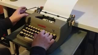 1957 Royal Quiet Deluxe Typewriter Test