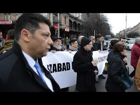 Budapest 2020.02.23. Roma tüntetés 02.