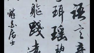 馮萬如老師康雅書法班示範仿趙孟頫行書曹植《洛神賦》06  Chinese Calligraphy 書道+字帖semi-cursive script 행서