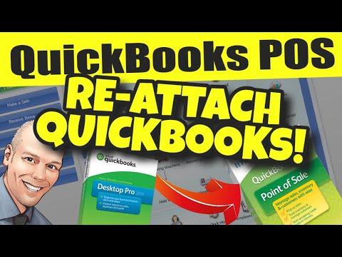 QuickBooks POS: Detach & Re-Attach QuickBooks Accounting