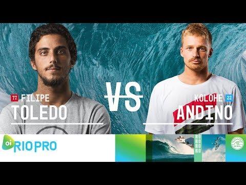 Filipe Toledo vs. Kolohe Andino - Quarterfinals, Heat 1 - Oi Rio Pro 2018