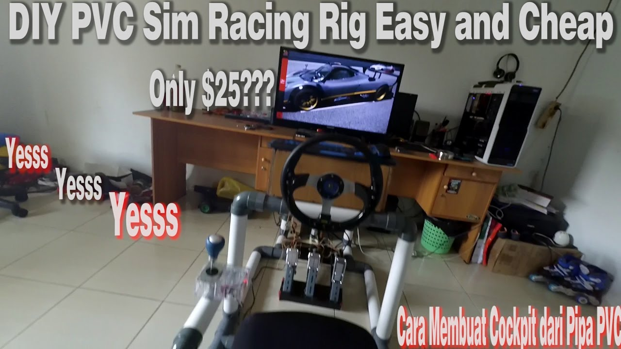 Diy Sim Racing Rig Pvc Easy And Cheap Youtube