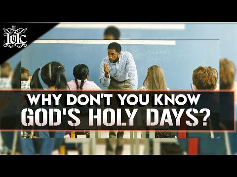 The Israelites: Why Don't You Know Your God's Holy Days!?!?!