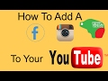 How To Add A Facebook,Instagram To Your YouTube Channel Bangla tutorial