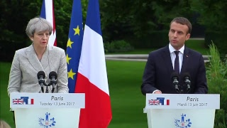 Theresa May meets French president Emmanuel Macron to discuss counter terror strategy