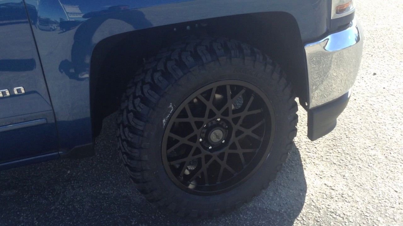 Chevrolet Silverado Sitting On 20 Quot Toxic Punisher Wheels And Rolling Big Power 33x12 5 20 Tires