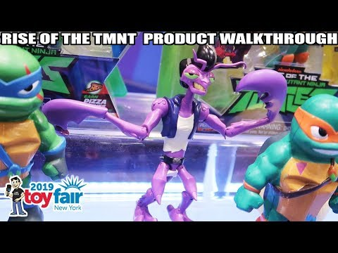 Rise of the TMNT Playmates Toys Product Walkthrough at Toy Fair 2019