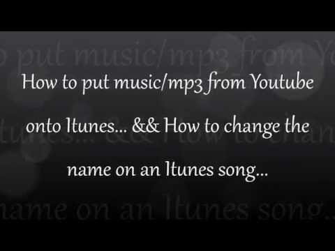How To Get Free Music/mp3 From Youtube Onto Itunes...
