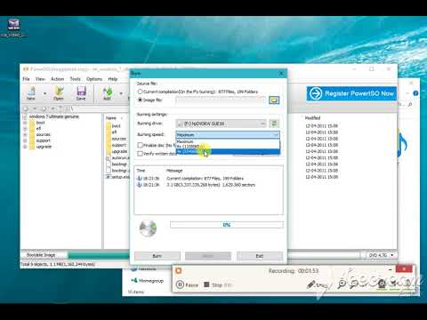 How To Make Dvd Bootable With Power Iso    Simply Make Windows Dvd  Bootablel  Windows 10 8 7  Any