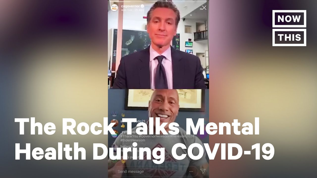 Dwayne 'The Rock' Johnson Talks COVID-19, Mental Health in Chat With Gov. Newsom | NowThis