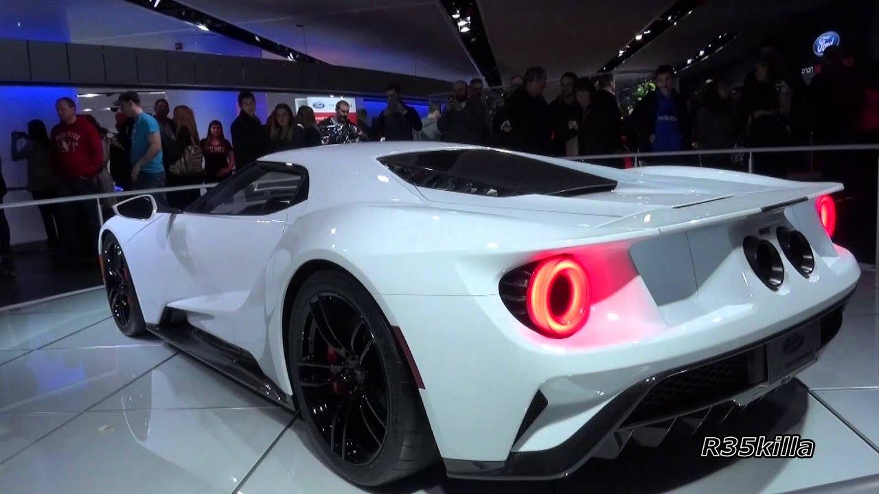 Ford Gt Walkaround Spoiler Action Naias  Detroit Auto Show