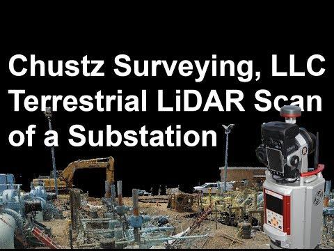 Terrestrial LiDAR Scan – Substation – Chustz Surveying, LLC