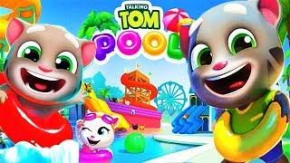 ГОВОРЯЩИЙ ТОМ АКВАПАРК #3 Анджела Хэнк Бен и Джинджер мультик игра видео для детей #Ушастик KIDS