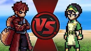 GAARA vs TOPH! (Naruto vs Avatar) | CARTOON FIGHT CLUB BONUS!