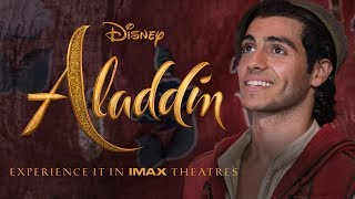A Message From Mena Massoud & Naomi Scott | Experience Disney's Aladdin in IMAX®