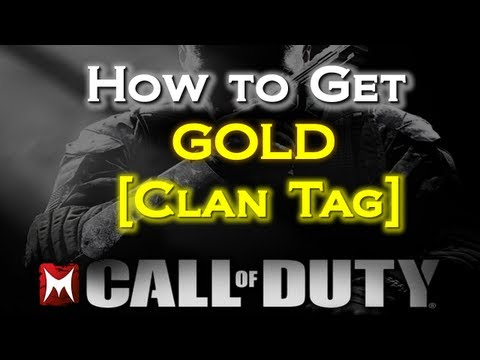 How To Get A Gold Clan Tag In Black Ops 2 [BO2 Simple Tutorial]