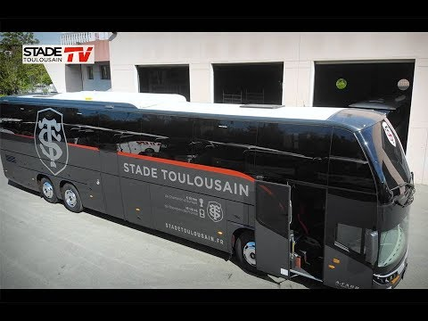 d couvrez le nouveau bus du stade toulousain youtube. Black Bedroom Furniture Sets. Home Design Ideas
