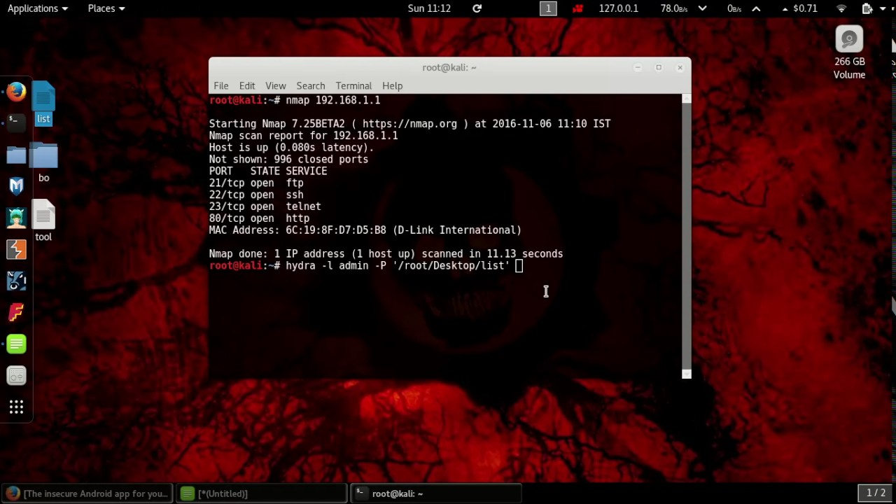 THC Hydra: Cracking Router's Admin Login Password - Cybrary