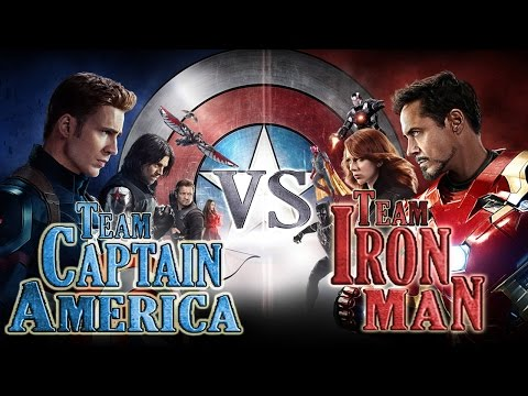 Team Captain America vs Team Iron Man