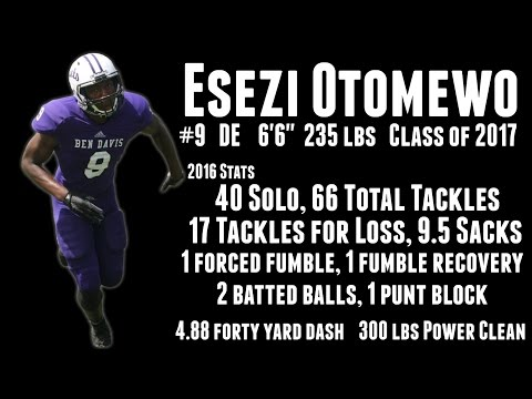 Esezi Ottomewo Senior Highlights, Class of 2017