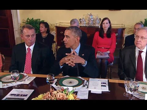 President Obama Meets with Congressional Leadership
