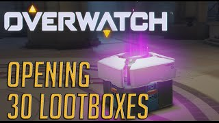 Overwatch Beta - Opening 30 Loot Boxes