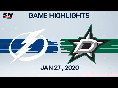 NHL Highlights | Lightning Vs. Stars – Jan. 27, 2020