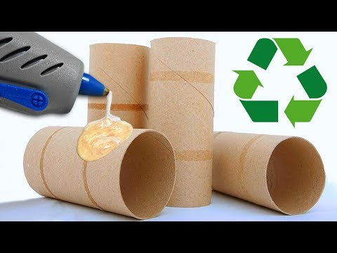 ♻ 5 DIYS WITH TOILET PAPER ROLLS OR KITCHEN PAPER ROLLS ♻