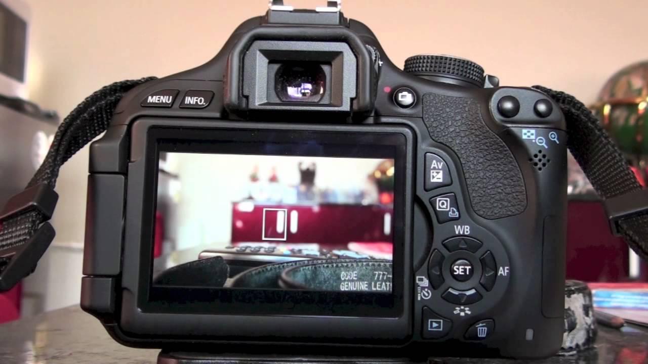 Canon eos 600d autofocus youtube for Housse canon eos 600d