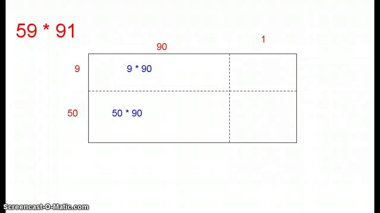 Gange 2-cifrede tal vha. rektangel - Trin 4