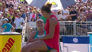 Madison Keys & CoCo Vandeweghe Share Hug After Bank of the West Classic Final