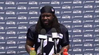 Seahawks Running Back Eddie Lacy OTAs Press Conference