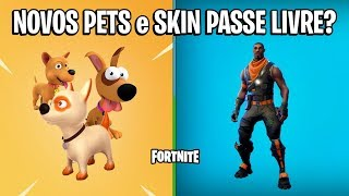 FORTNITE-NEW PETS et SKIN GRATUIT EN SEASON 6?