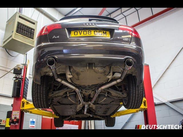 audi a4 b7 2 0tdi custom exhaust amp