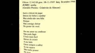 Orlando Silva - JUREI - Geraldo Pereira - Cristóvão de Alencar - Odeon 12. 662-B - 08.11.1945
