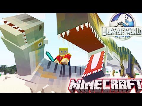 MineCraft 1.8 MOD: Jurassic World 2.0 Mod ShowCase: NEW DINOS, FIGHTS & MORE!
