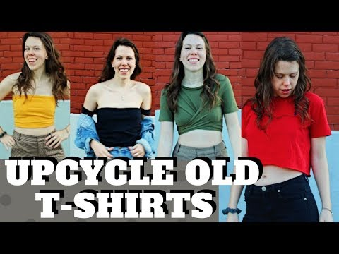 DIY   4 Ways To Upcycle Your Old T-shirts (NO SEW) - Tops to Crops Style