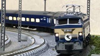 Nゲージ 鉄道模型 かつての日常EF66牽引24系寝台特急はやぶさ KATO 10-1406.1407 ※音量注意警笛有り