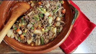 Carne Molida Con Vegetales / Ground Beef With Vegetables  (How To)