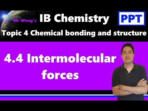 IB Chemistry Topic 4.4 Intermolecular forces