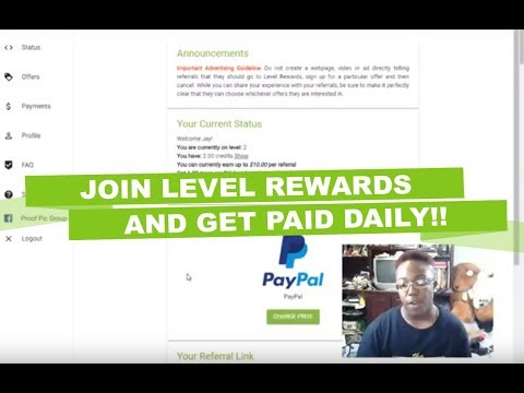 NEW Level Rewards Opportunity Helping People Get Paid Daily!