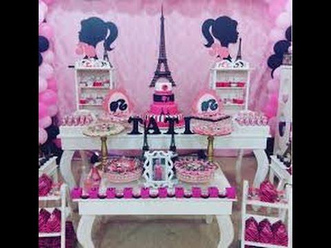 Ideas para fiestas de 15 a os de barbie youtube for Ideas para decoracion de 15
