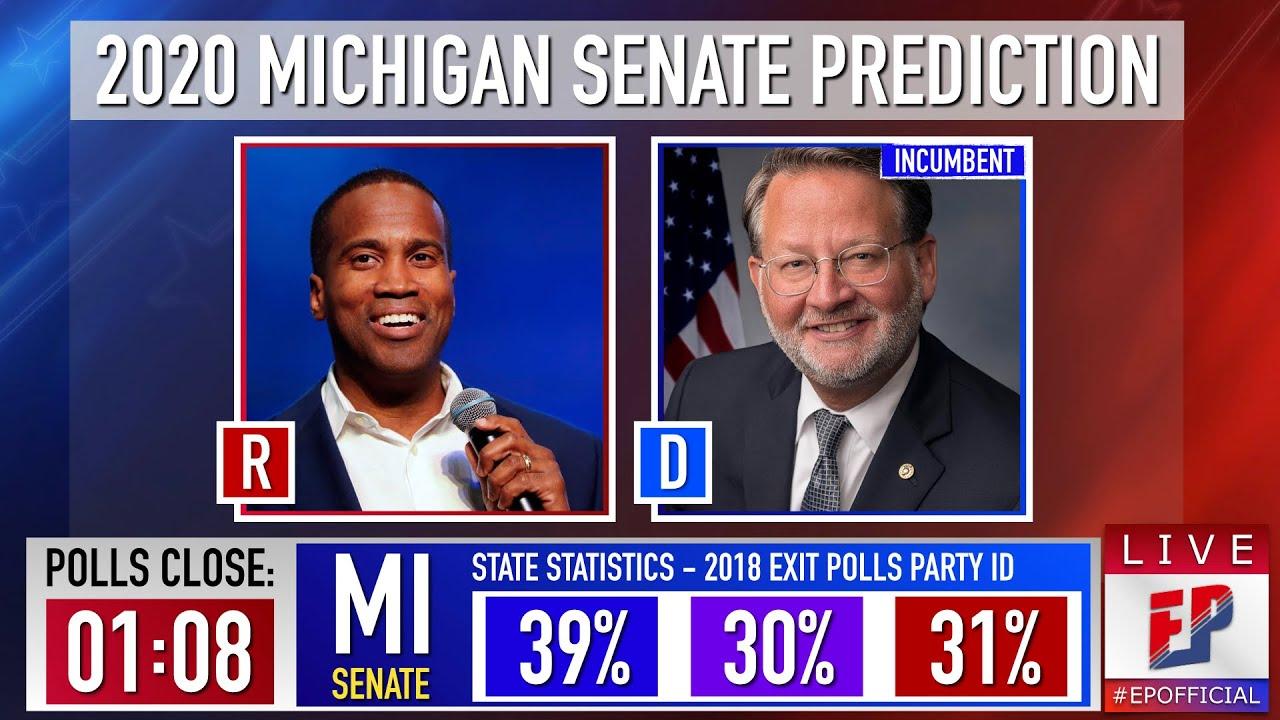 Democrat incumbent Gary Peters is projected to win Michigan ...