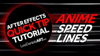 After Effects Tutorial | QUICK TIP | Anime Speed Lines