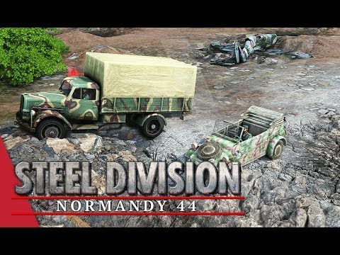Turned On It's Side! Steel Division: Normandy 44 Gameplay (Odon - River, 3v3)