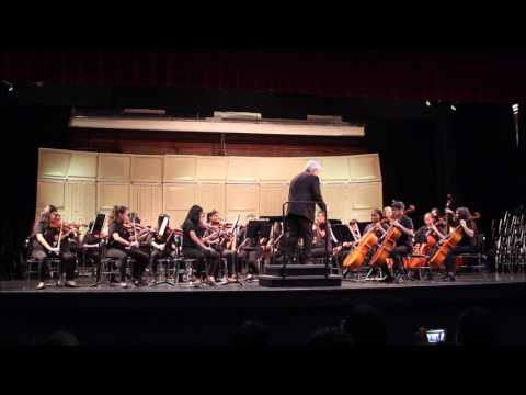 "Peterson Middle School orchestra plays ""Swashbuckler's Saga"""