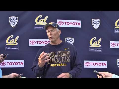 Cal Football: DC Art Kaufman Post Practice (8/6/14)